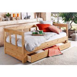 Fenyő ágy (AIRA) INGYEN SZÁLLÍTÁSSAL! Egy szintben kihúzható 90-180/200 cm Natúr színben. Raktárról azonnal elvihető.