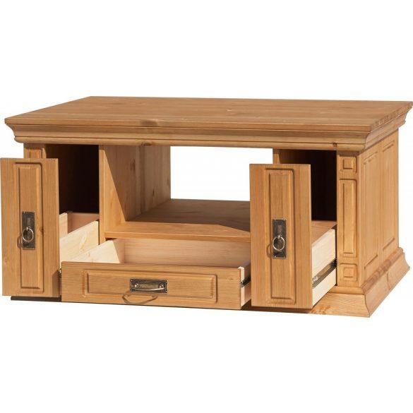 Vinale dohányzó asztal dán minőség tömör erdei fenyőből NATÚR színben, 100 cm széles 3 fiókos Prémium kategória utolsó darab áron.