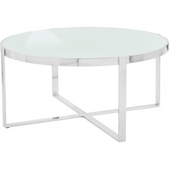 Lorien modern világos szürke/króm dohányzó asztal prémium minőség akciósan! Raktárról azonnal elvihető!