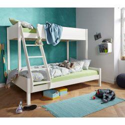 Lyon Fehér fenyő emeletes ágy alul 140 felül 90/ 200 cm Magas minőség! Raktárról azonnal elvihető!