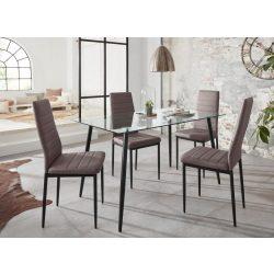 Danny étkező asztal,4 székkel, capuccino színben, biztonsági üveglap, magas Német minőség most AKCIÓBAN! Raktárról azonnal elvihető!