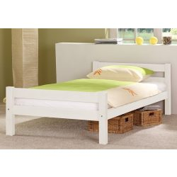 Relita fehér színű ágy 90 cm. Extra erős szilárd bükk. Német minőség kivételes akciós áron! Raktárról azonnal elvihető!