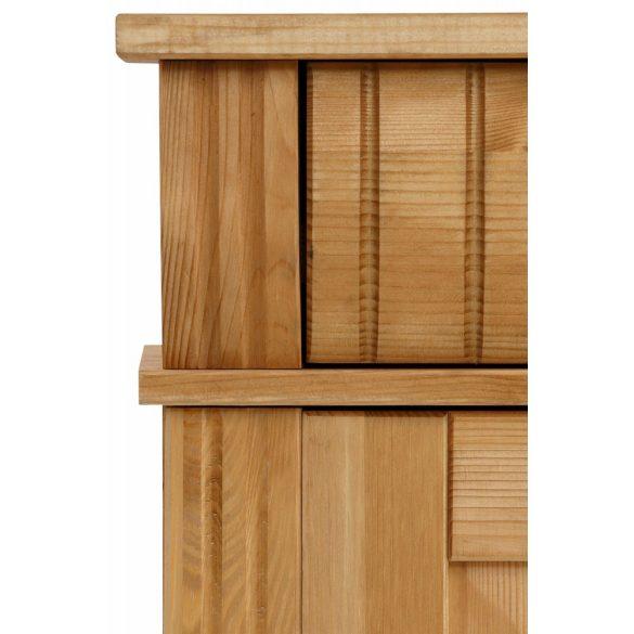 Fenyő komód (TERESA) domború fiókokkal. 4 ajtós. Prémium kategóriás MOST Akciós áron!