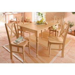 Noah méz színű étkező garnitúra, asztal + 4 szék. Német minőség, tömör fenyő AKCIÓSAN. Raktárról azonnal elvihető!
