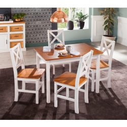 Étkező garnitúra (OSLO) asztal 4 székkel tömör fenyő Német minőség egyenesen a raktárról most akcióban.