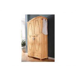 Fenyő ruhásszekrény (Melody) tömör fából natúr színben. Magas Német minőség. Most AKCIÓBAN! Raktárról azonnal!