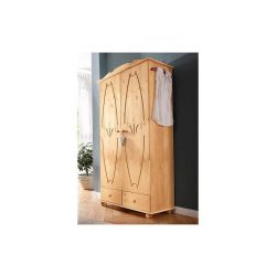 Fenyő ruhás szekrény (Melody) tömör fából natúr színben. Magas Német minőség. Most AKCIÓBAN! Raktárról azonnal!