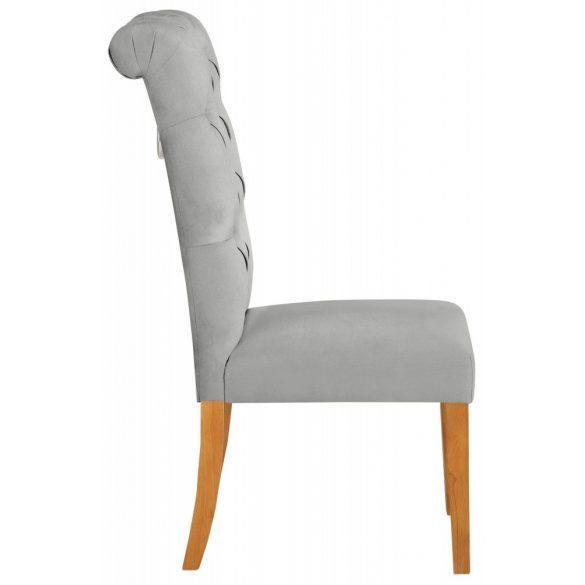 Prémium szék (LIA) Szürke színben, bársony huzattal. Magas minőség, most AKCIÓBAN. Raktárról azonnal elvihető!