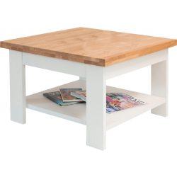 Milánó dohányzóasztal, 70 cm, fehér/bükk színben, bükk asztallappal. Magas minőség, most AKCIÓBAN. Azonnal elvihető!