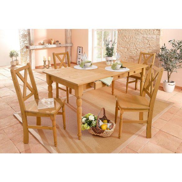 Noah Méz színű étkező asztal, 160/80 cm. Német minőség, tömör fából, most AKCIÓBAN. Raktárról azonnal elvihető!
