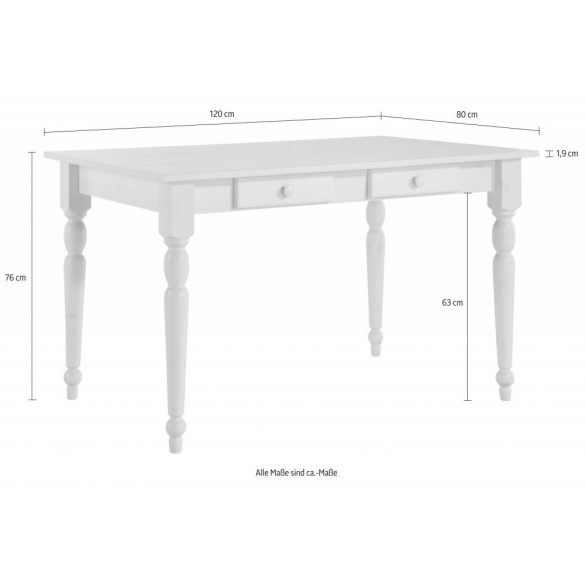 Noah Méz színű étkezőasztal, 120/80 cm. Német minőség, tömör fából, most AKCIÓBAN. Raktárról azonnal elvihető!