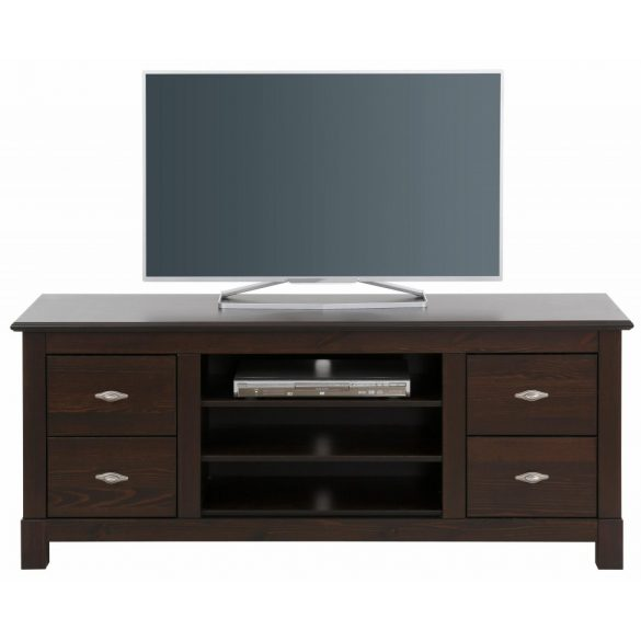 Rauna Tv szekrény, tömör fából, barna,magas Prémium minőség, most AKCIÓBAN. Raktárról azonnal elvihető.