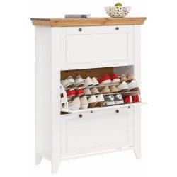 Skandy Fehér 3 ajtós cipős szekrény. Magas Német minőség Borovi fenyőből  akciós áron. Raktárról azonnal elvihető!