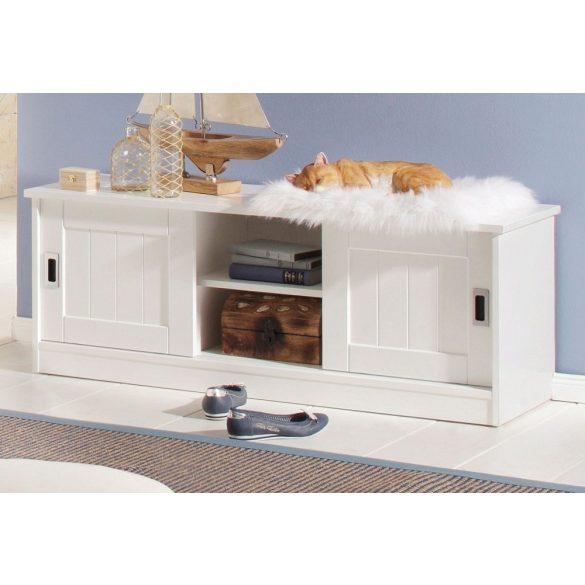 Nekso fehér cipős szekrény, 122 cm széles. magas Német minőség, most AKCIÓBAN, raktárról azonnal elvihető!