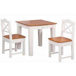 Fiókos, étkezőasztal 2 székkel.(VANDA) Tömör fából. Magas Német minőség, most AKCIÓBAN. Raktárról azonnal elvihető!