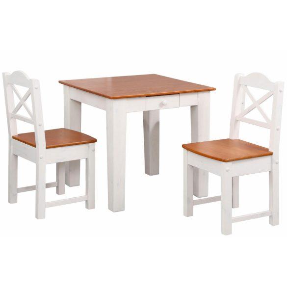 Vanda fiókos, étkező asztal 2 székkel. Tömör fából. Magas Német minőség, most AKCIÓBAN. Raktárról azonnal elvihető!