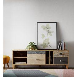 Oker egyedi design TV szekrény, 147 cm széles. Magas minőség, most AKCIÓBAN! Raktárról azonnal elvihető!
