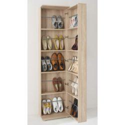 Cipőszekrény sonoma (Balerino) tükörrel és cipőtárolókkal mindkét oldalon. Magas minőség AKCIÓVAL!