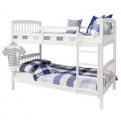 Ravelo fehér fenyő emeletes ágy 90 erős kivitel magas minőség outlet áron! 2 külön ággyá alakítható.