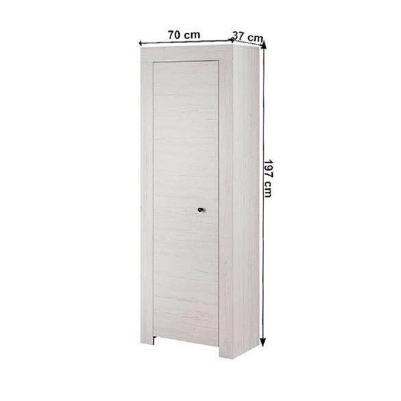 Polcos szekrény (Vince RSZ70 ) 4 polccal, romantikus stílusban, 197 cm magas. Magas minőség most AKCIÓBAN!