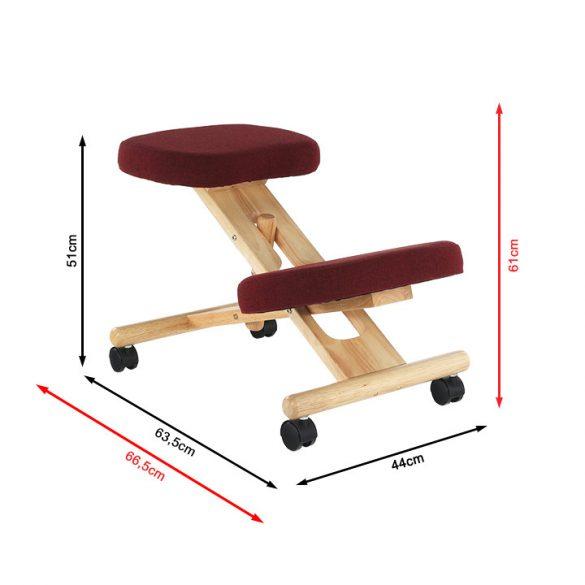 Tempo ergonómiai térdelőülés, kerekeken számítógépasztalhoz tömör fából. 2 féle színben. Most AKCIÓVAL!
