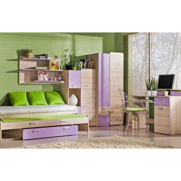 Dupla ágy pótággyal,. (TEG133) Ágyráccsal, matraccal, ágyneműtartóval!  több színben színben. Most INGYENES SZÁLLÍTÁSSAL!