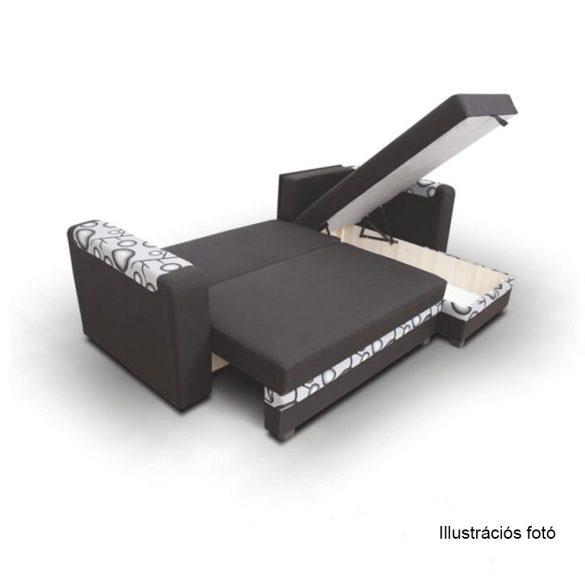Ülőgarnitúra, sötétszürke/fekete (BON034) INGYENES SZÁLLÍTÁSSAL! Ágyfunkcióval és ágyneműtartóval, 3 díszpárnával.