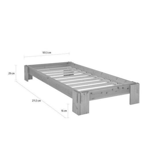 Barna  ágy futonágy 90/200 cm, ágyráccsal, tömör fenyő erős kivitel Német minőség akciós áron! Raktárról azonnal elvihető!